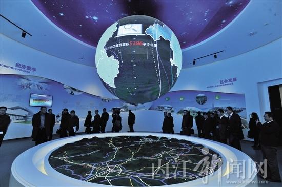 走进内江城市规划展览馆