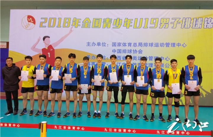 历史记录全国青少年U19排球锦标赛:内江六中男子排球队夺冠