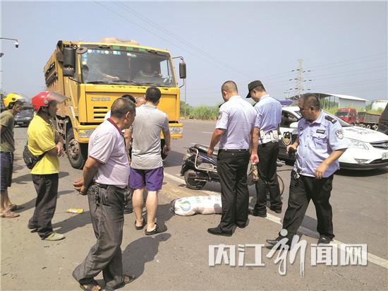 321国道段发生一惨烈交通事故:货车撞上电瓶车,一人当场死亡