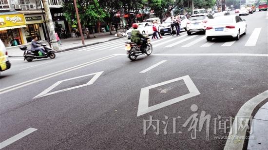 """""""菱形""""地面标线,不少司机""""犯晕"""" - 内江新闻网"""
