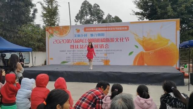 2020第六届内江朝阳柑橘旅游文化节暨扶贫产品展销会侧记