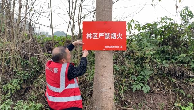 内江高新区胜利街道联合社区:森林防灭火 一刻不放松